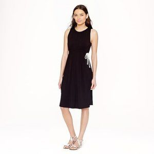 J. Crew Grecian Sleeveless Black Dress w/ Rope Tie